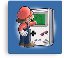 Mario Through the console Canvas Print