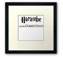 Harambe And The Cursed Child Framed Print