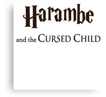 Harambe And The Cursed Child Canvas Print