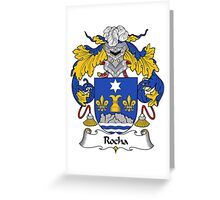 Rocha Coat of Arms/ Rocha Family Crest Greeting Card