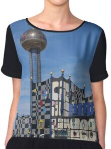 Waste Incineration Plant, Vienna Austria Chiffon Top