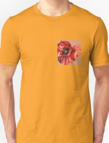Oil Pastel Red Poppy Unisex T-Shirt