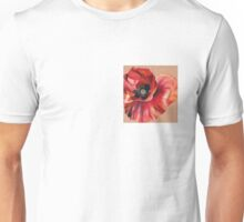 Oil Pastel Red Poppy Unisex T-Shirt