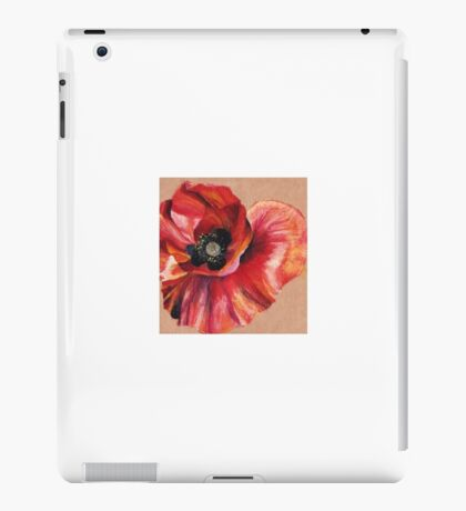 Oil Pastel Red Poppy iPad Case/Skin