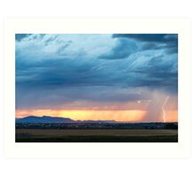 Storm Passing By Art Print