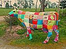 Patchwork cow, Tasmania by Margaret  Hyde