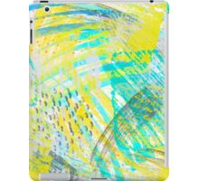 Abstract yellow green pattern iPad Case/Skin