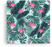 tropic abstract flamingo Canvas Print