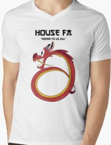 House Fa Mens V-Neck T-Shirt