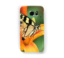 Tiger Swallowtail Butterfly On Daylily Samsung Galaxy Case/Skin