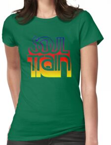 SOUL TRAIN (SUNSET) Womens Fitted T-Shirt