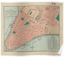 Vintage Map of Lower Manhattan (1776) Poster