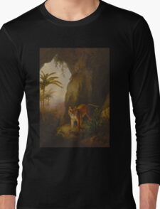 Tiger in a Cave Long Sleeve T-Shirt