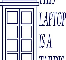 This Laptop Is A TARDIS by Amanda Vontobel Photography/Random Fandom Stuff