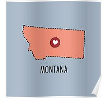 Montana State Heart Poster