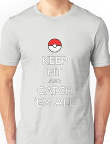 Pokemon Keep Fit and Catch 'em All Unisex T-Shirt