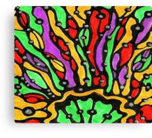 Polychromatic Sunburst Duvet Cover Canvas Print