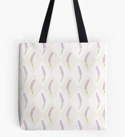 Cute lavender seamless tile pattern.French wallpaper.  Tote Bag