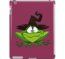 Frog and witches hat iPad Case/Skin