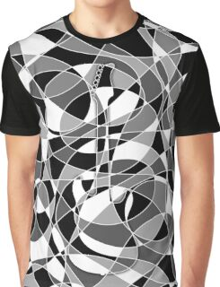 Electric Guitar Optical Illusion in Black and White Graphic T-Shirt