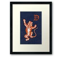 Original Detroit Tigers Logo (Unofficial) Framed Print