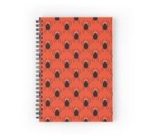 Halloween spiders simple pattern. Cute seamless background.  Spiral Notebook