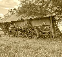 "OLD WAGON.... OLD SHED """""" Days gone by.... by jenkeating1"