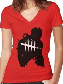 Bloody Dead by Daylight Women's Fitted V-Neck T-Shirt