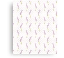 Lavender seamless dot pattern.Cute french wallpaper.  Canvas Print