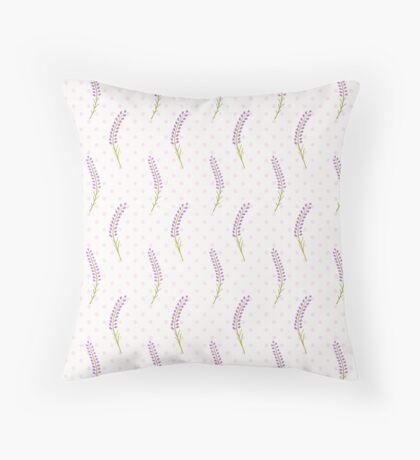 Lavender seamless dot pattern.Cute french wallpaper.  Throw Pillow