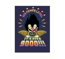 Over 9000! Art Print