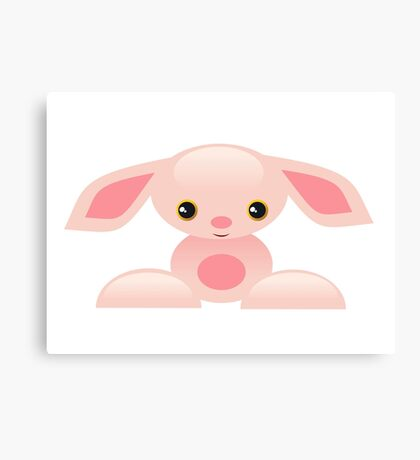 Little Pink Baby Bunny - The Shy Canvas Print