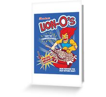 Lion-O's Cereal Greeting Card