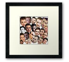 Chris Evans' face edits Framed Print