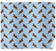 Cute Otter pattern Poster