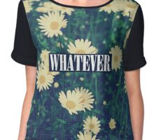 Cute Girly Whatever Grunge Daisy Design Chiffon Top