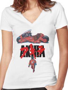 Akira Women's Fitted V-Neck T-Shirt