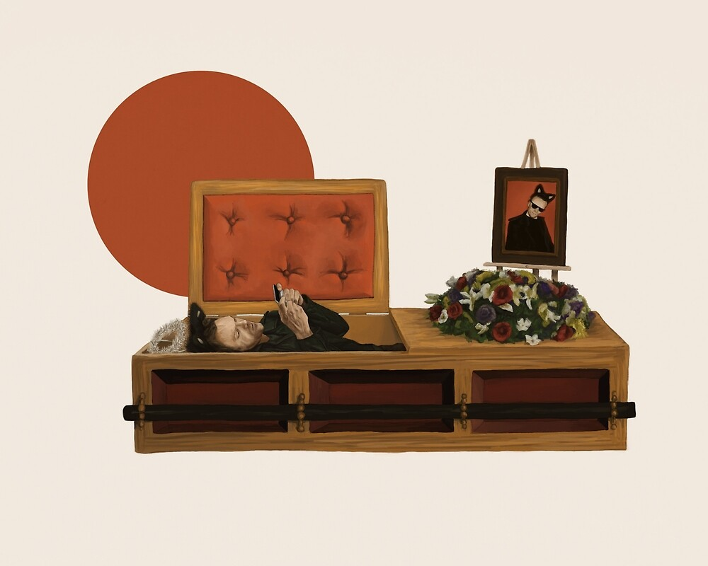 Cool cat funeral by mycolour