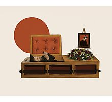 Cool cat funeral Photographic Print