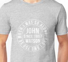 John Watson Typography (Sherlock) Unisex T-Shirt