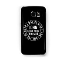 John Watson Typography (Sherlock) Samsung Galaxy Case/Skin