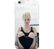 curve blonde girl iPhone Case/Skin