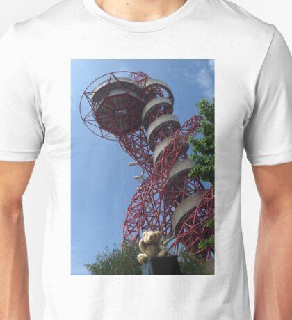 Little Ted Visits ArcelorMittal Orbit , London Unisex T-Shirt