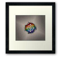 LGBT Buddhist Wheel of Dharma  Framed Print