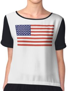 American Flag, Stars & Stripes, Pure & Simple, America, USA Chiffon Top