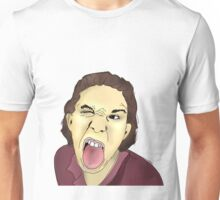 Funny Man That Sticks His Tongue Out Unisex T-Shirt