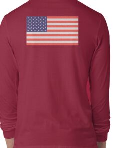 American Flag, Faded Flag, Stars & Stripes, USA, Old Glory, The Star-Spangled Banner, America, Americana, USA, ON BLACK Long Sleeve T-Shirt
