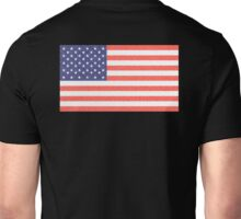 American, Faded Flag, Stars & Stripes, USA, Old Glory, The Star-Spangled Banner, America, Americana, USA, ON BLACK Unisex T-Shirt