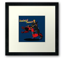 Deadpool the Menace Framed Print