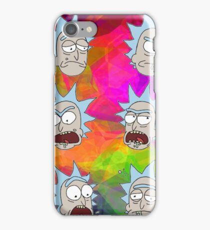 Trippy Psychedelic Rick Sanchez Expressions iPhone Case/Skin